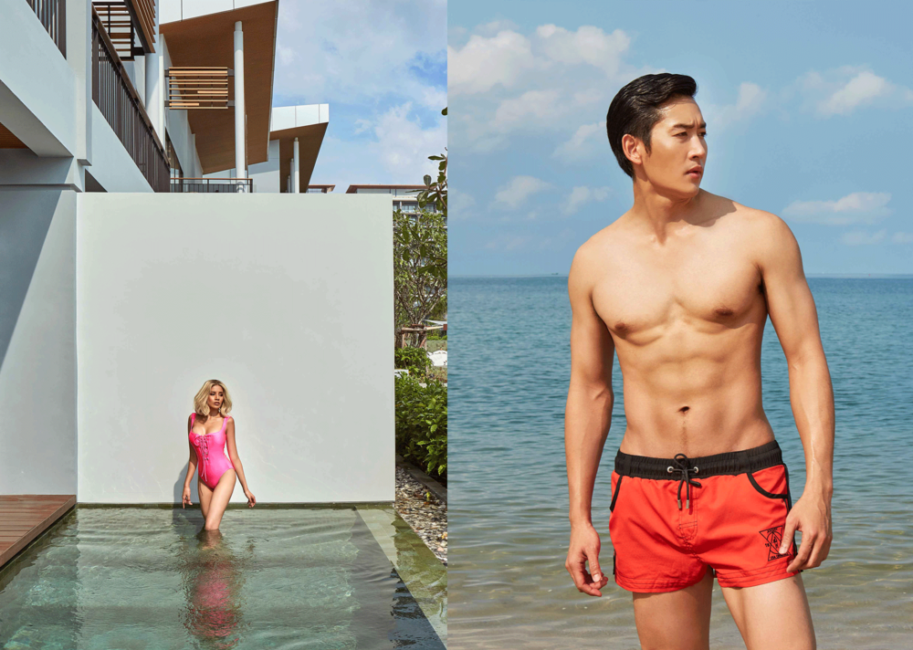 Bitoey : swimsuit : SARIT   NIKE ; trunks : JOCKEY