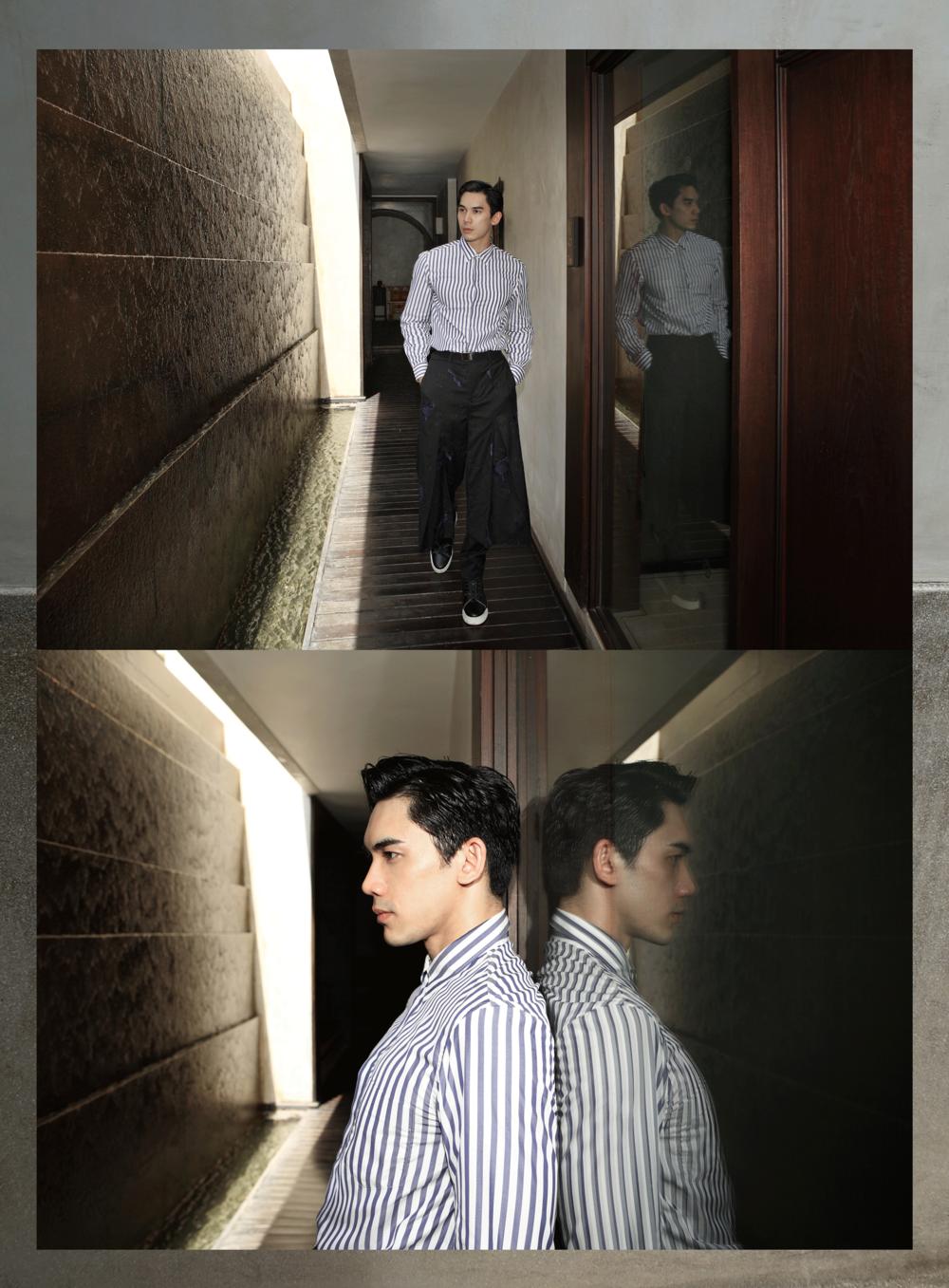 clothes : Emporio Armani / shoes : Christian Louboutin
