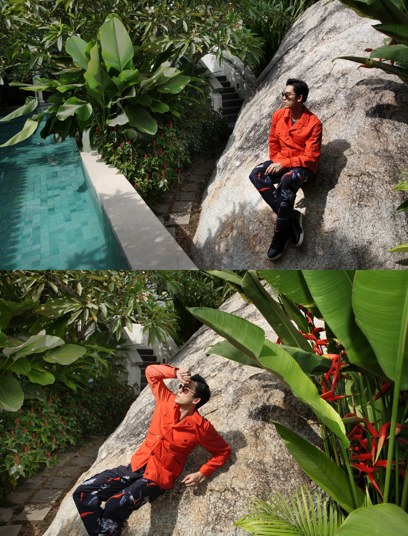 clothes : Paul Smith / shoes : Christian Louboutin / sunglasses : TAVAT