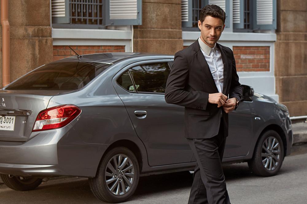 car : Mitsubishi NEW Attrage  suit : SARIT / shirt : Jil Sander