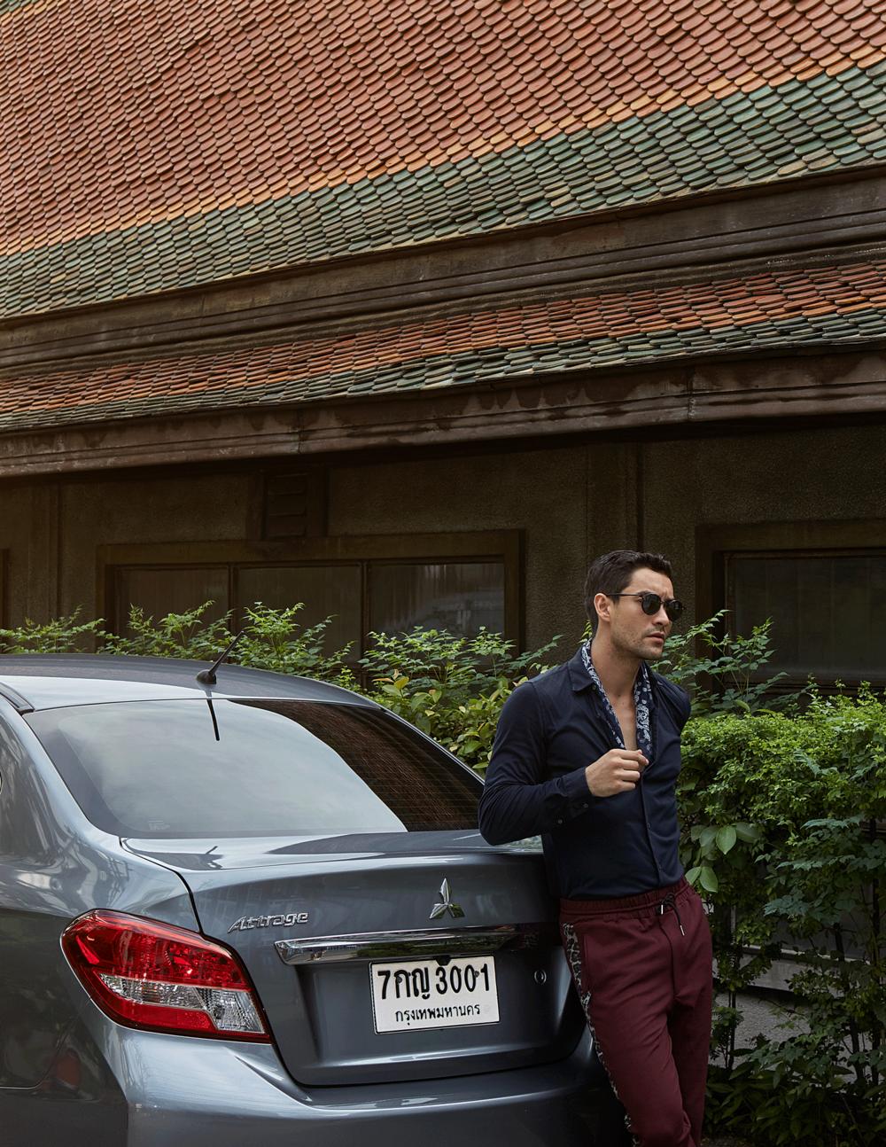 car : Mitsubishi NEW Attrage  shirt : Jil Sander / pants : Theatre / sunglasses : TAVAT