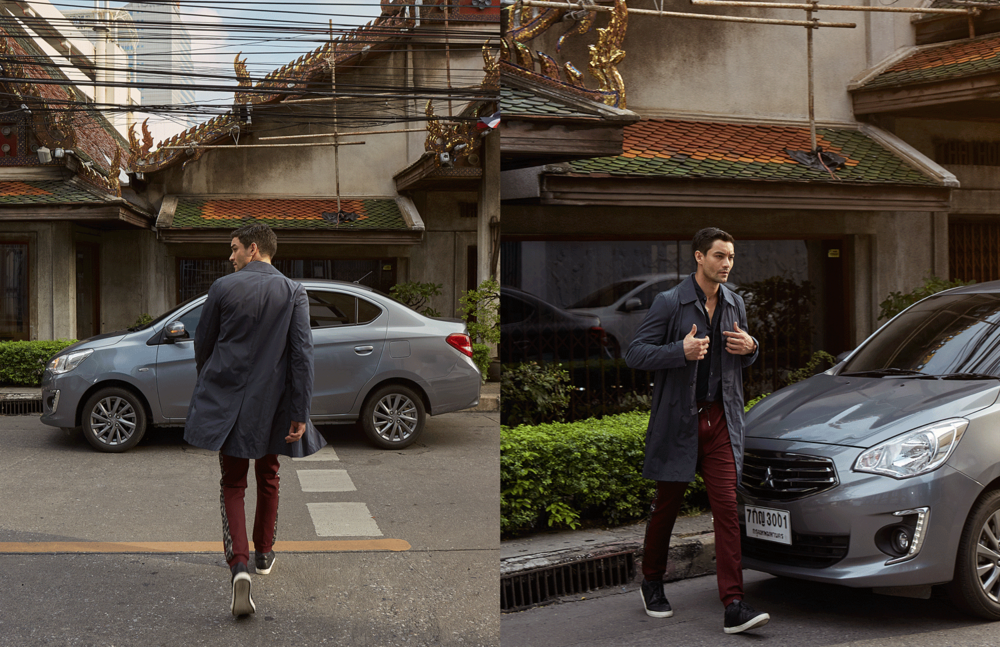 car : Mitsubishi NEW Attrage  shirt : Jil Sander / pants : Theatre