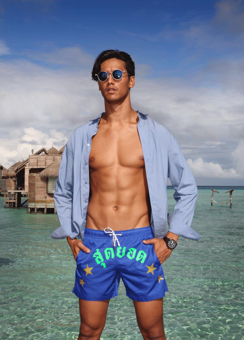 shirt : Everyday Karmakamet / shorts : SALAWAN  sunglasses : TAVAT  watch : ALPINA STARTIMER PILOT BIG DATE CHRONOGRAPH