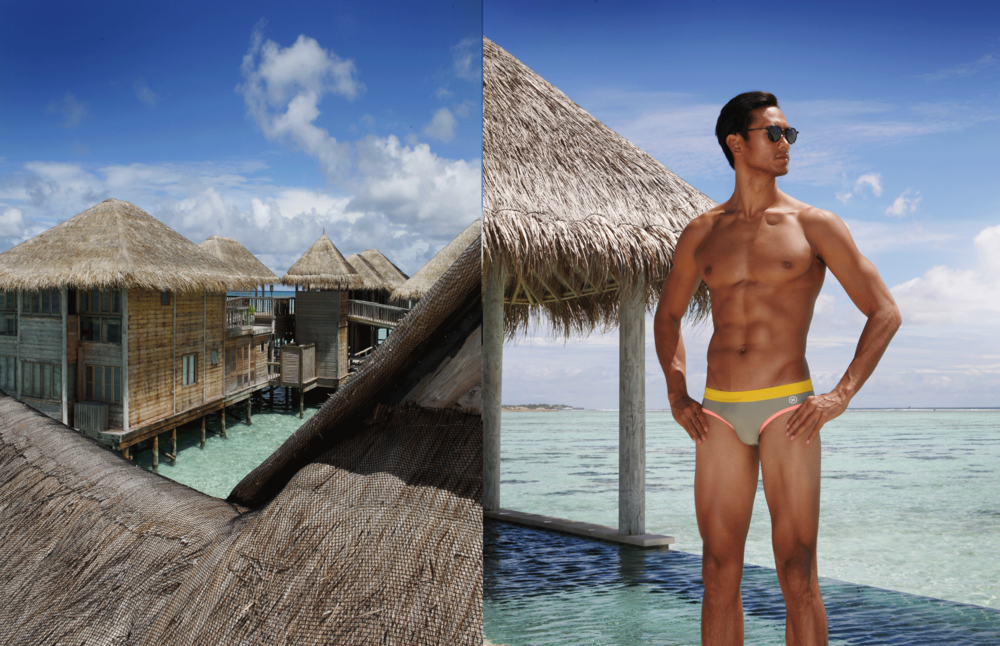 swimwear: NOXX / sunglasses : TAVAT