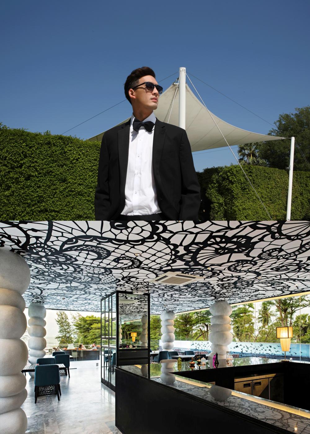 Bom : shirt : P.MITH / bow-tie : Seth neckwear / Tuxedo Suit : Brooks Brothers  sunglasses : Blake Kuwahara