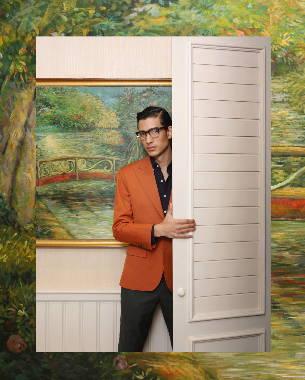 suit & pants : Pink Tailor / shirt : Royal Ivy Regatta / eyeglasses : Blake Kuwahara