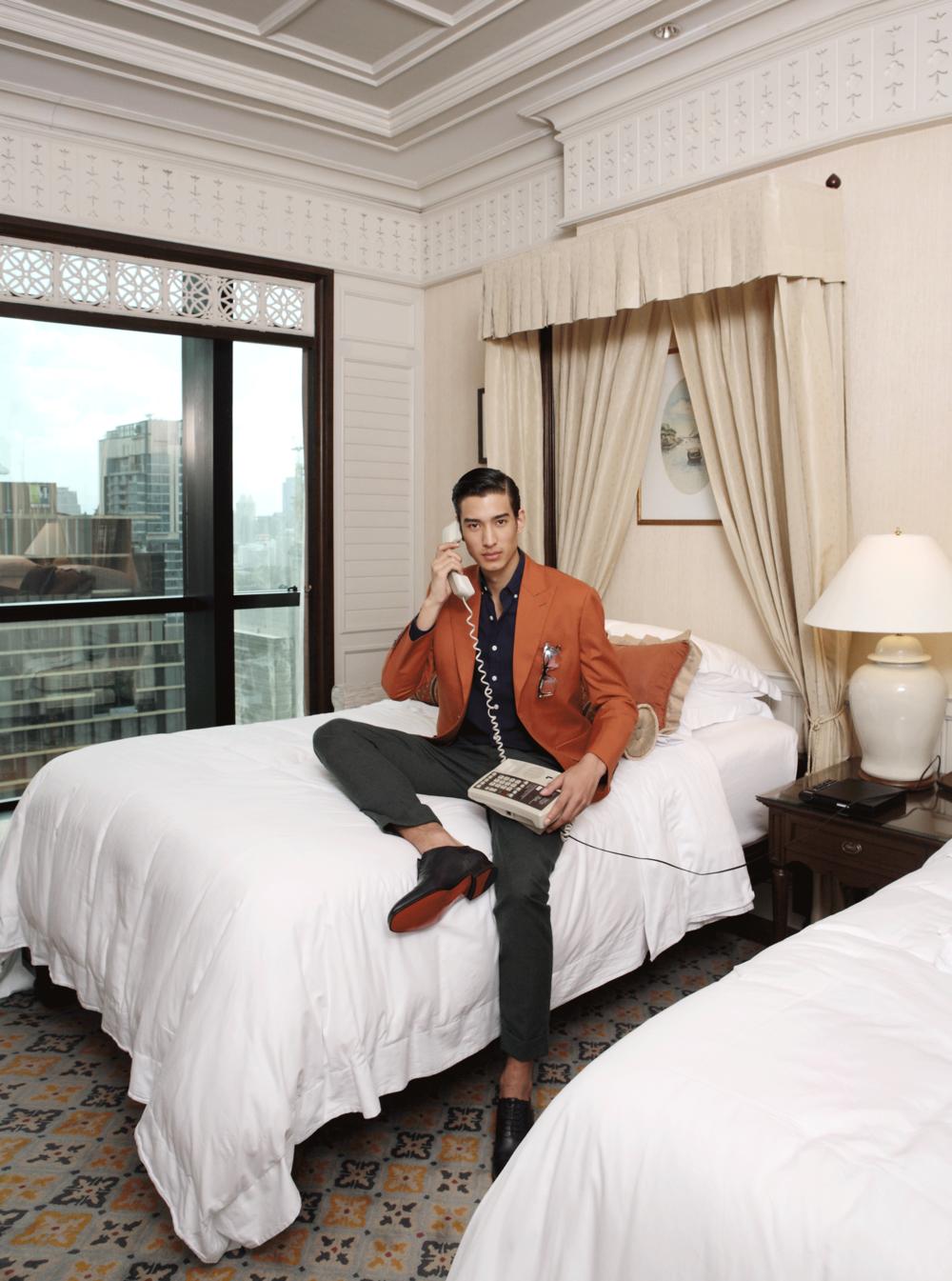 suit & pants : Pink Tailor / shirt : Royal Ivy Regatta / shoes : Christian Louboutin / eyeglasses : Blake Kuwahara