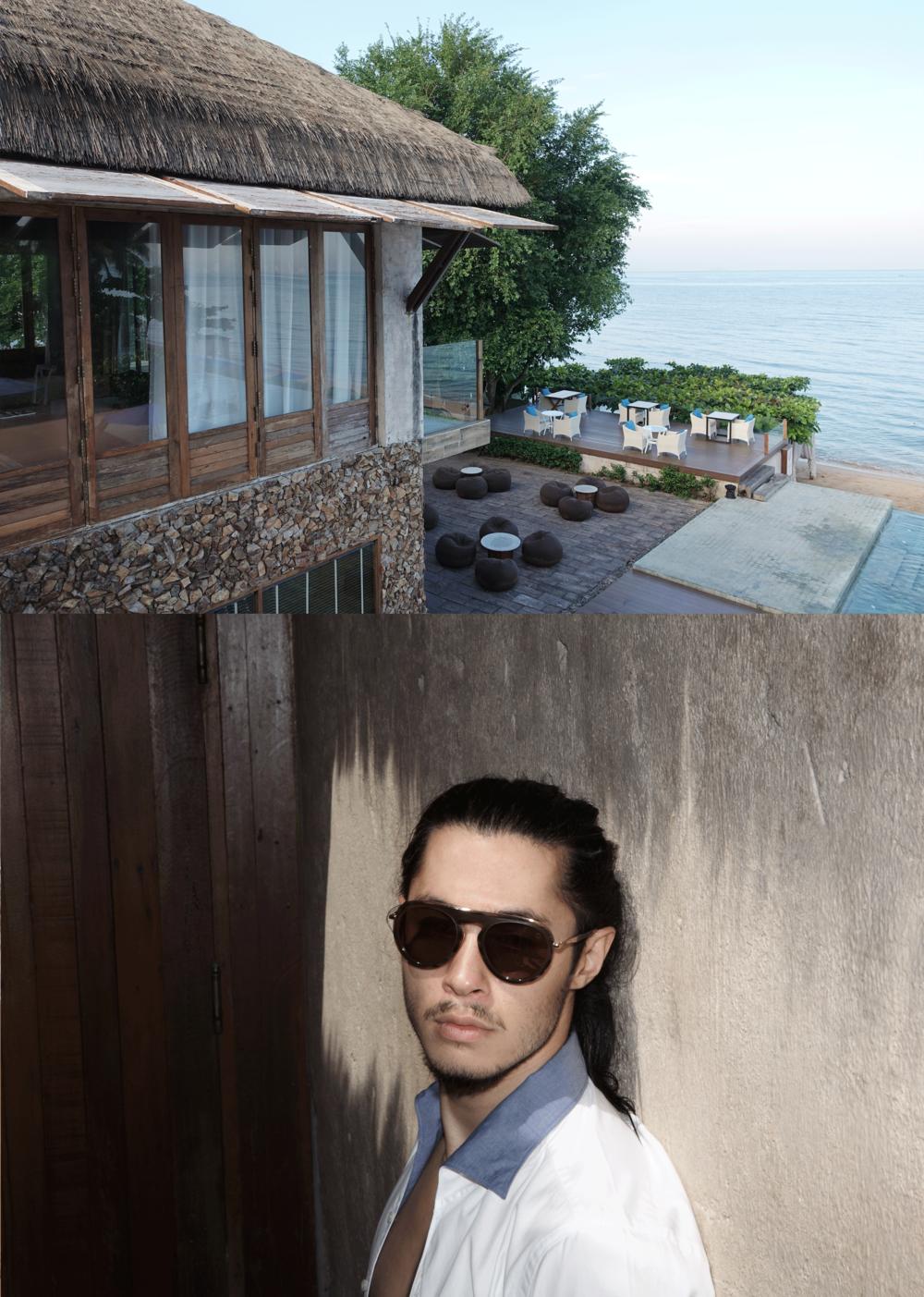shirt : TIMO / sunglasses : Blake Kuwahara