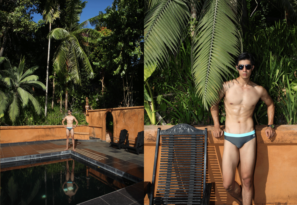 swimwear : NOXX / sunglasses : TAVAT / watch : FORREST