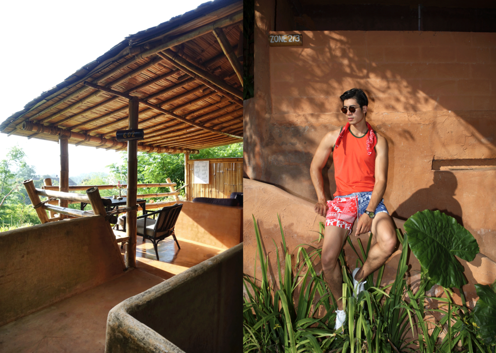 tanktop : NOXX / shorts : Salawan / watch : FORREST / sunglasses : TAVAT