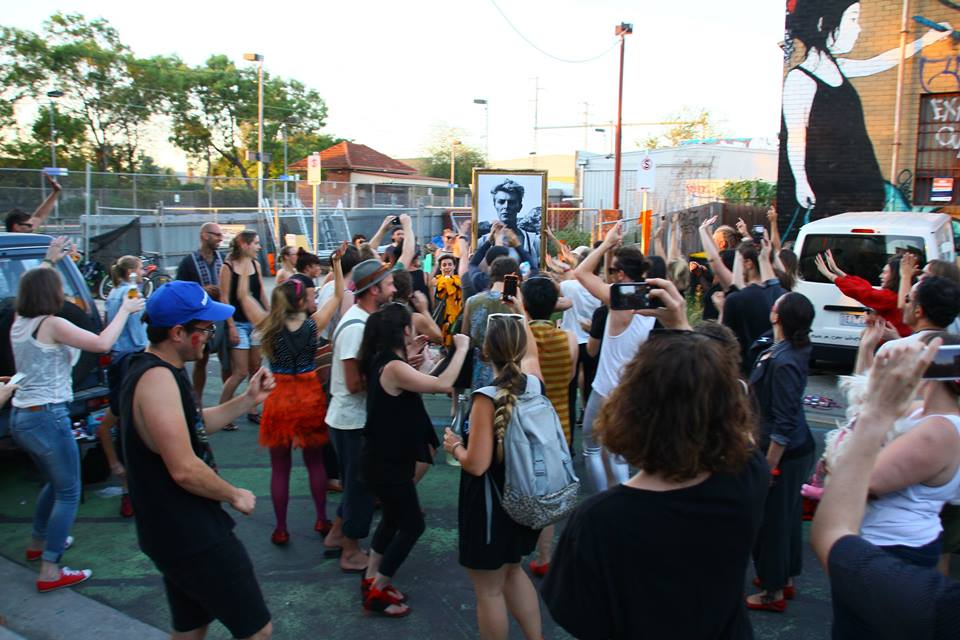 The day after Bowie died we put the word out. Put on your red shoes and dance the blues away... In Brunswick we gathered to dance to Bowie, for Bowie.