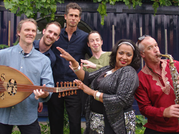 This band pulls together the strands of different cultures into a unique sound that is heavily grounded in North African, Middle Eastern and Indian influences. Their live performances are a joyful celebration of music and dance, enhanced by dancer extraordinaire Josie Palermo.