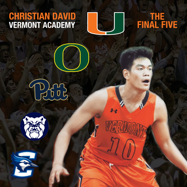 Christian David '17 landed over 20 scholarship offers during his time at vermont academy!