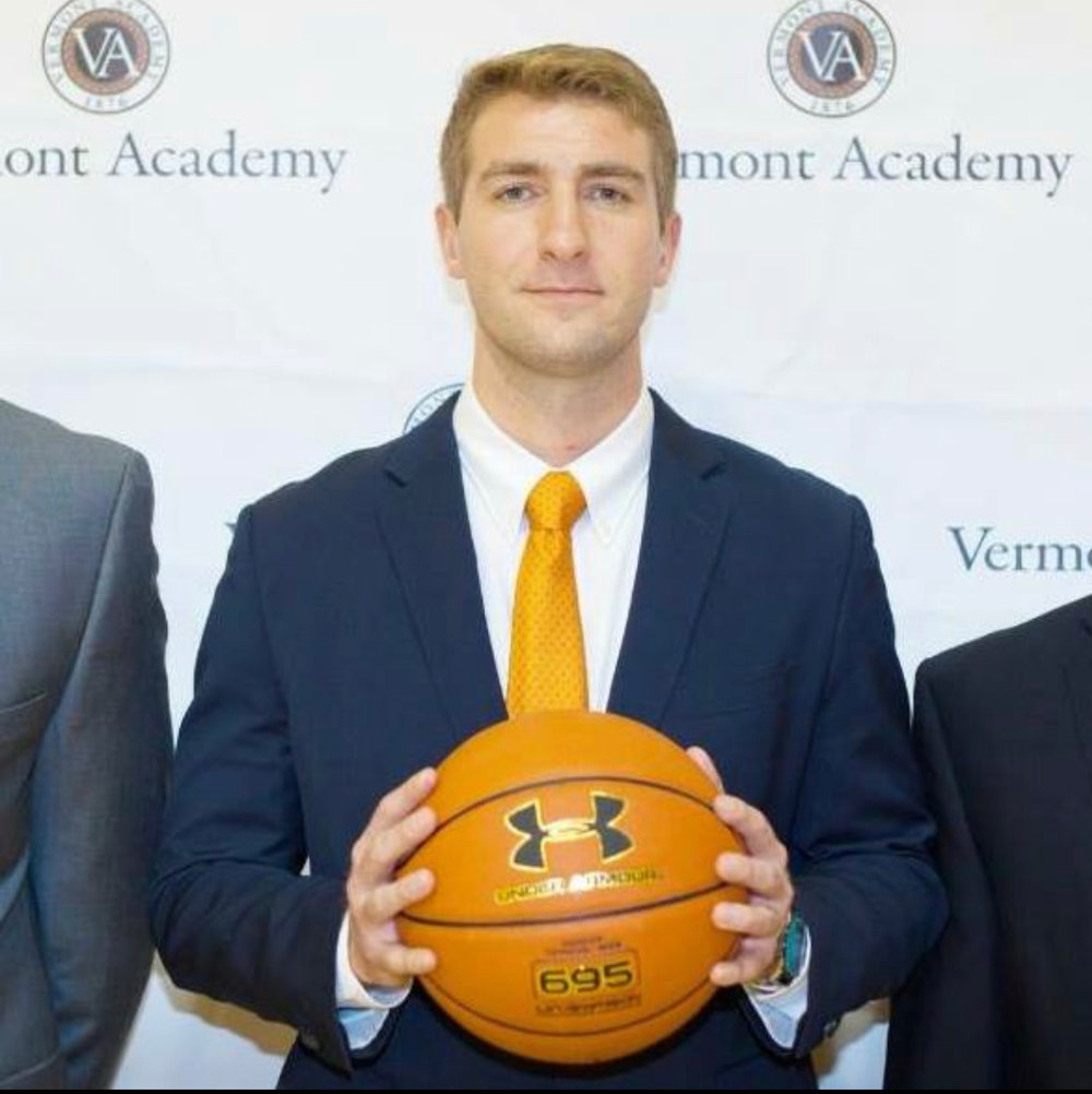 alex popp, head coach, vermont academy men's basketball