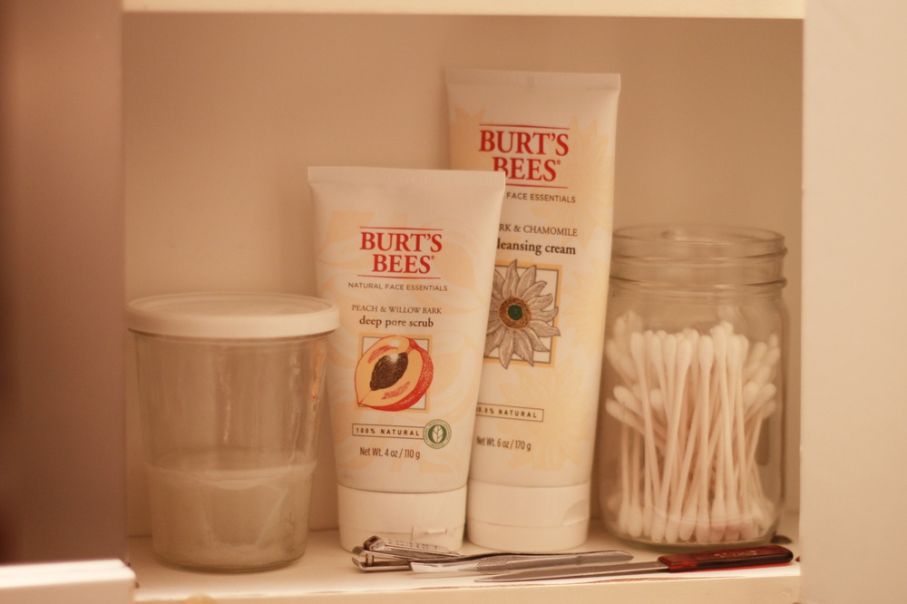 in the bathroom cabinet  via seekthewelfare
