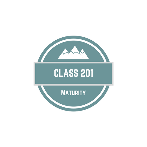 Maturity - In Class 201 you can find out what it means to be more like Jesus, learn how to spend time with God through prayer and Bible study, discover the importance of tithing, and understand the value of community.The next class will be October 14, 2018