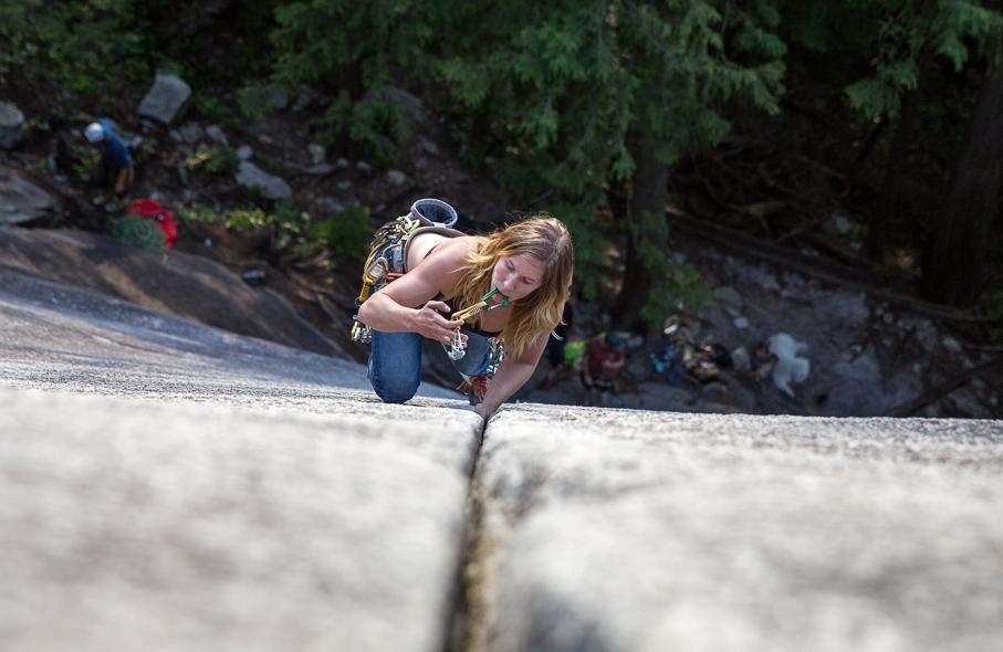 Rock Climbing. Squamish Shannon Falls