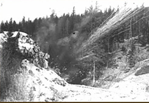 Blasting tunnels on the Kettle Valley Railway