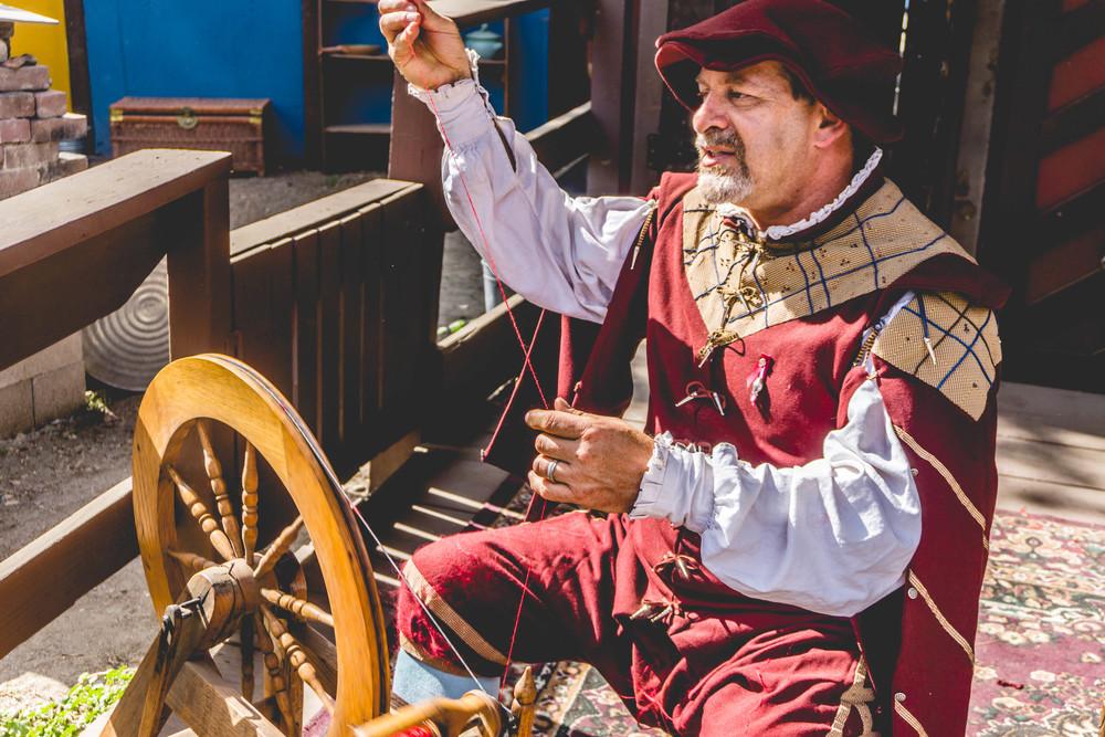 Renaissance Faire sewing wheel
