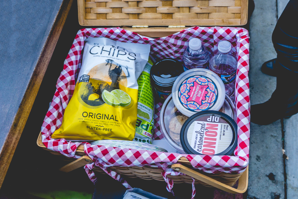What's cool about the Hollywood Bowl is that they allow picnic baskets with food and drinks.