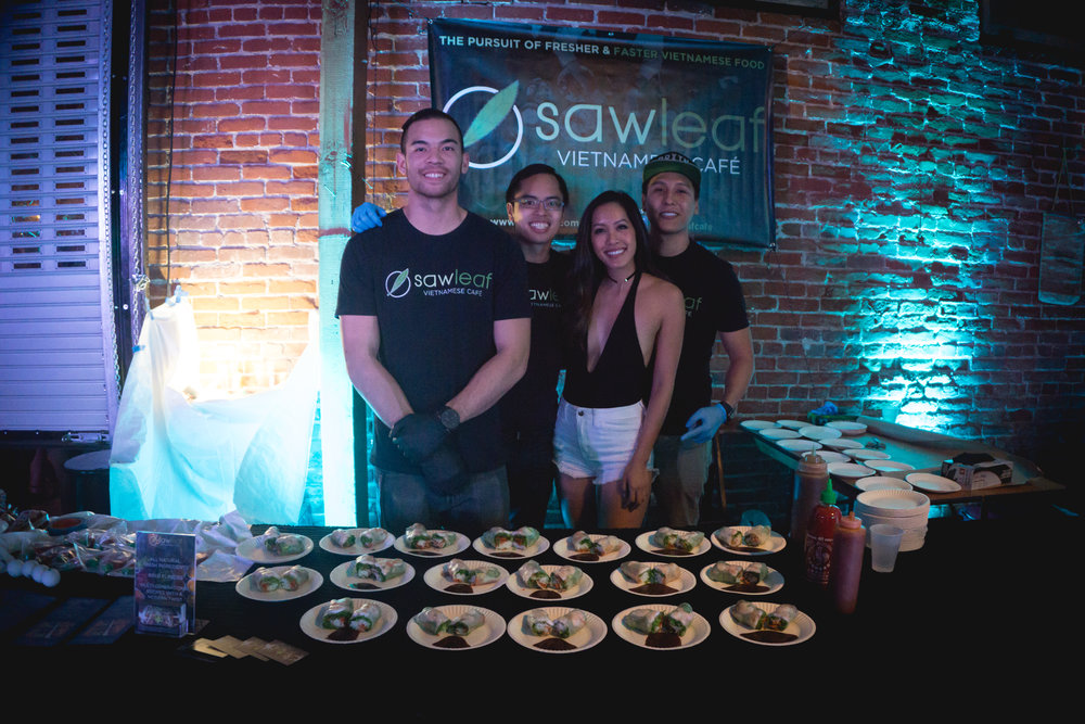 Sawleaf Cafe served their famous pork and shrimp spring rolls.