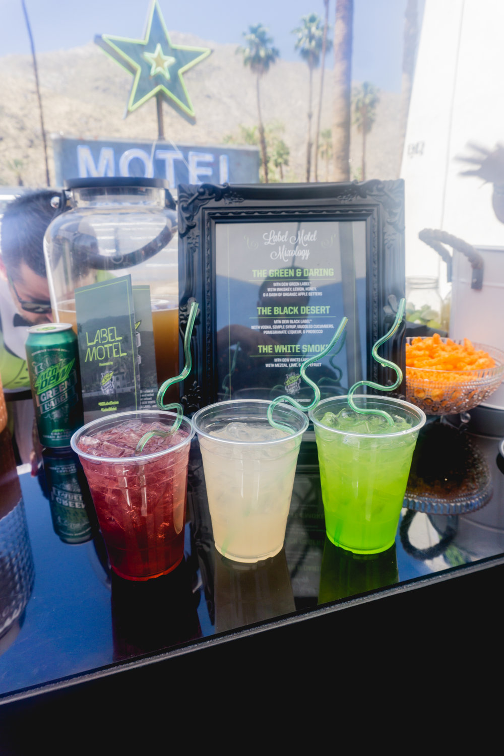 All cocktails and food were infused with Mountain Dew's new drinks. They were all tasty!