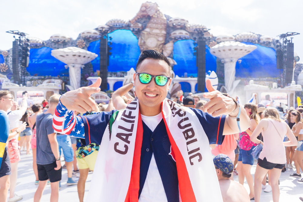 From the Republic of California, I volunteered as tribute in the 2018 Tomorrowland Summer Games.