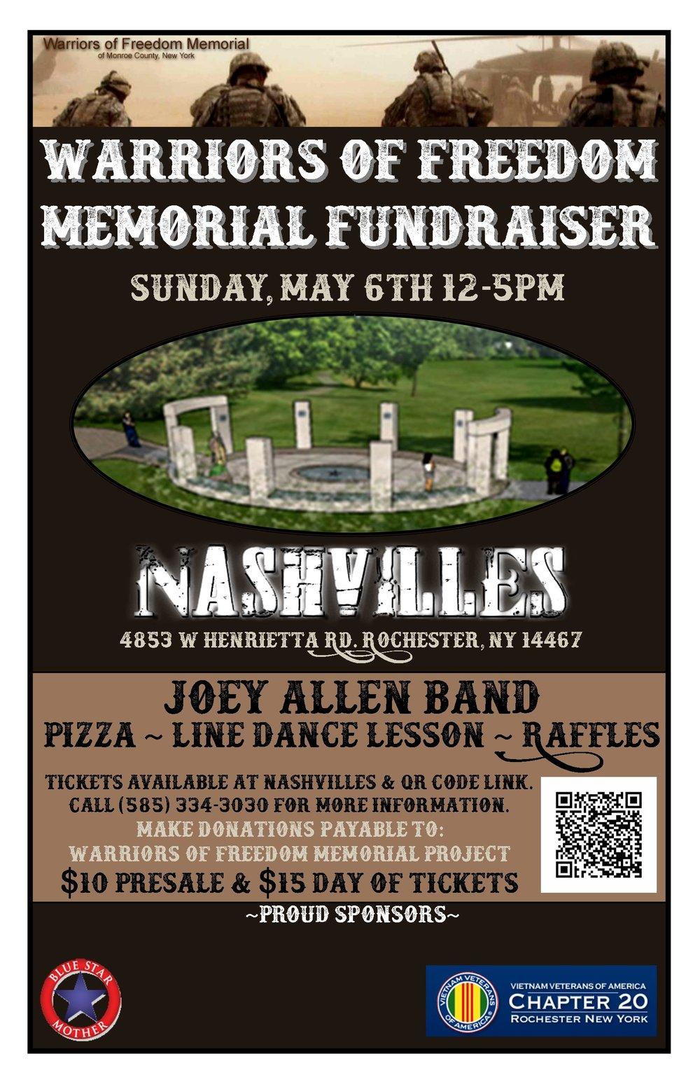 Warriors Of Freedom Memorial Fundraiser Nashvilles Ny