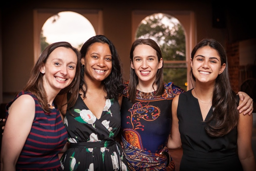 Deputy Director Marie Zemler Wu, Director of Recruitment and Operations Saskia Op den Bosch, Founder and CEO Sherry Lachman, and Intern Rachel Heimann