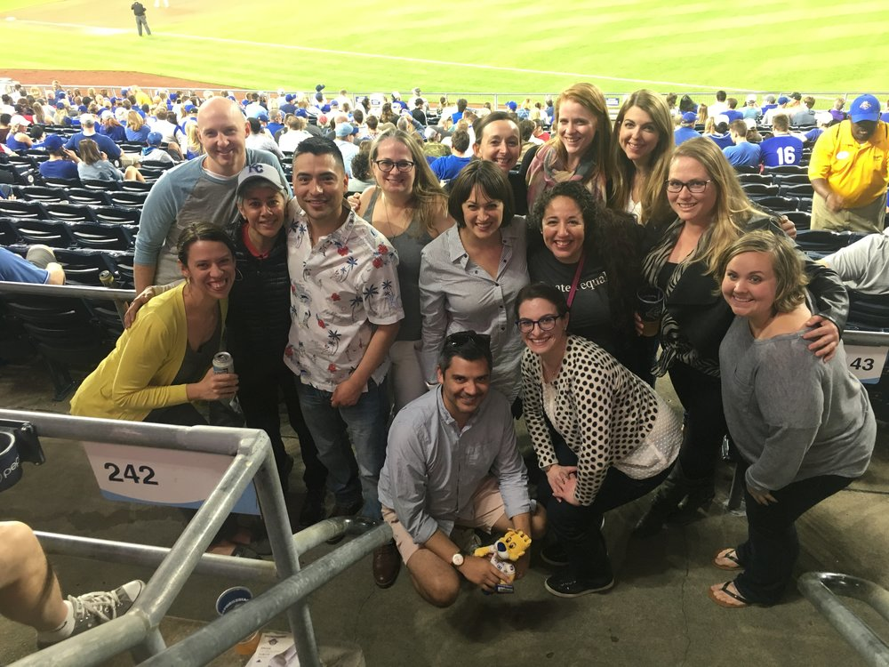 Members of Cohort 2 celebrating another successful convening at a KC Royals game