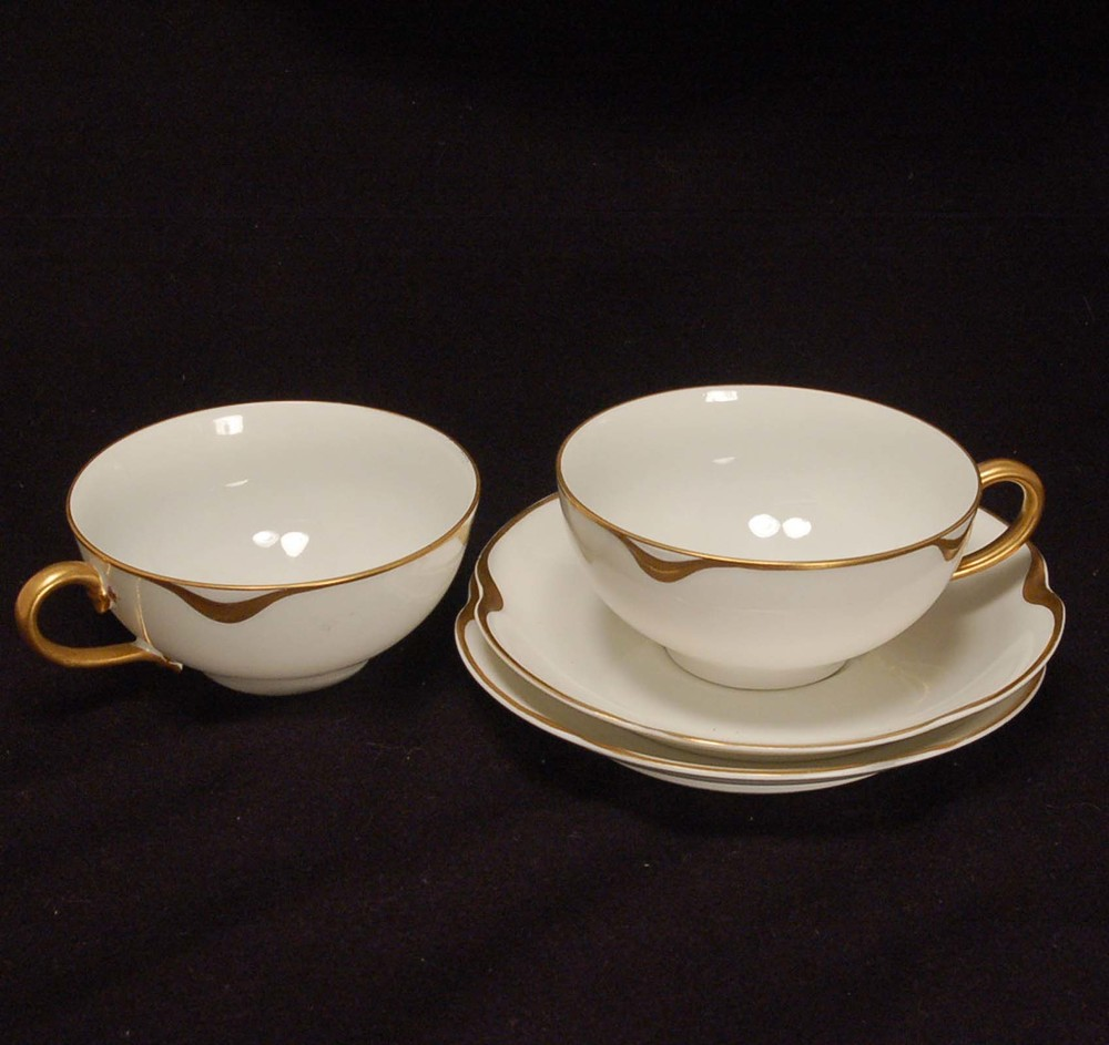 Haviland Limoges Silver Anniversary Cup and Saucer