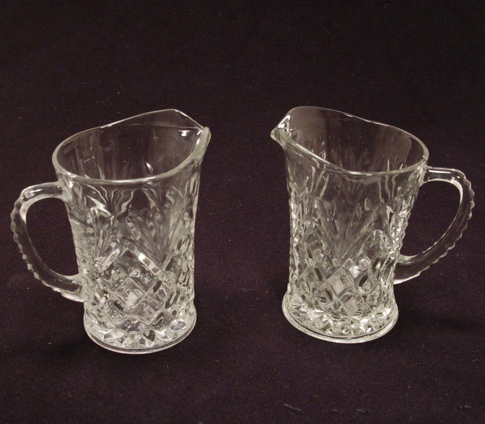 Anchor Hocking 10 ozs. Pitchers-Early American Prescut Pattern.