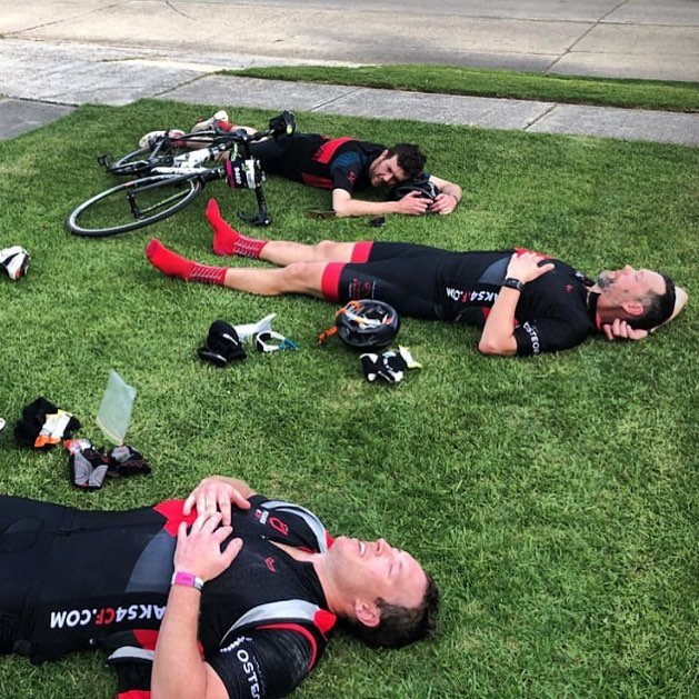 Stuffed. Flash back to last year's Around the Bay 300km ride. . Our riders are feeling the same way right now. Riding hard to complete their 4,065m of climbing during March. . Come ride with us this Sunday 17th March at Mt Donna Buang. Meet at 7am Warburton Bowls Club carpark. . . . #peaks4cf #4065challenge #mtdonnabuang #mtdonnabuangsummit #fuckcf