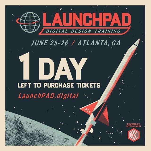 Today is the last day to purchase your ticket to attend LaunchPAD Digital Design Training! To give attendees enough time to prepare for LaunchPAD, we are ending ticket sales one week before the seminar starts. That means you only have until today at 8pm to buy your ticket to this incredible 2-day seminar! Tickets are available at http://launchpad.digital @launchpad.digital