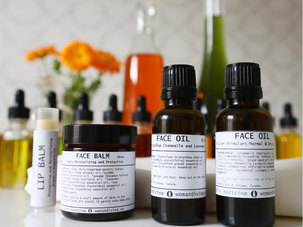 Magdalena Tomczak offers custom-tailored essential and vegetable oil formulas designed for the face, body, hair, feet, hands or bath.  Jean Levac / Ottawa Citizen