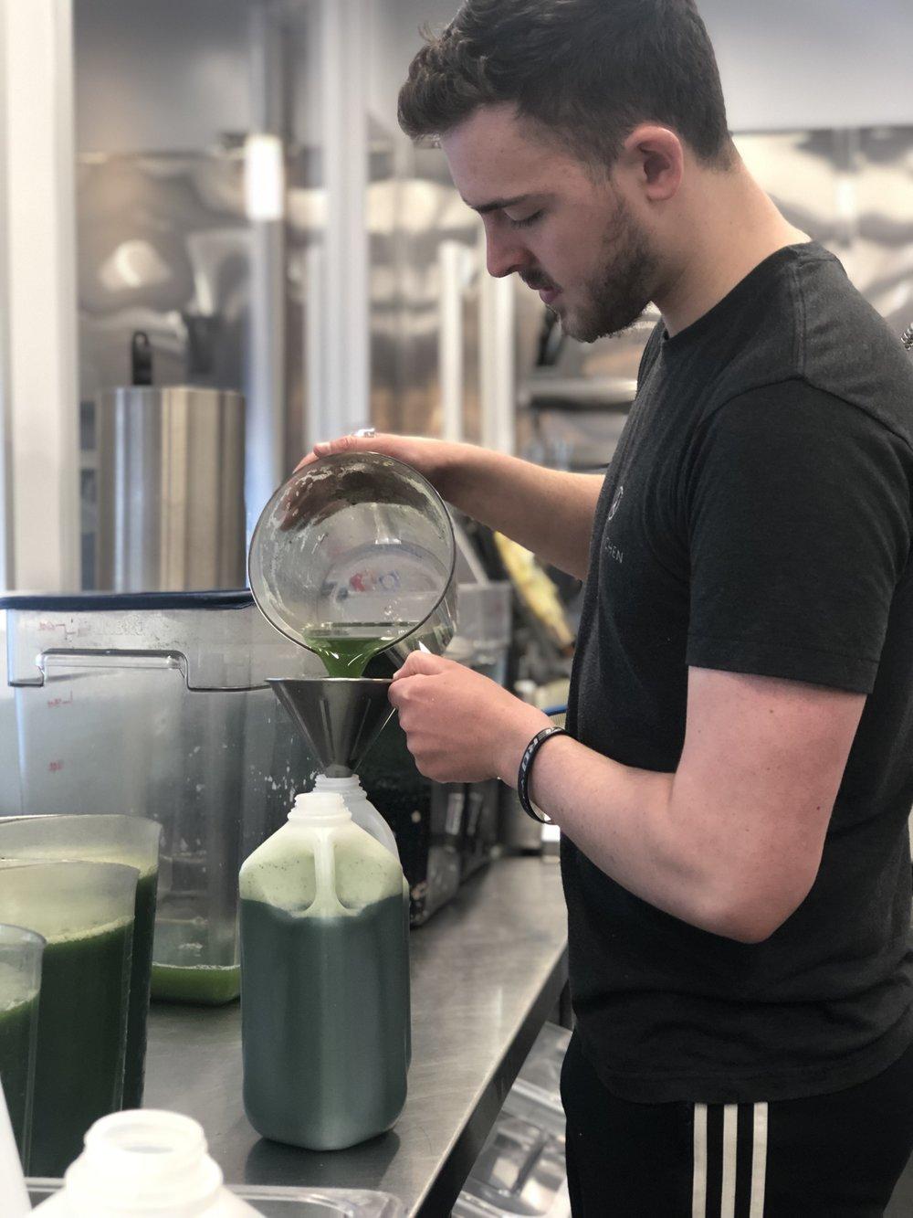Rowan (team PK) pouring the Lush