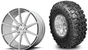 40 inch large off-road tires luxury wheels