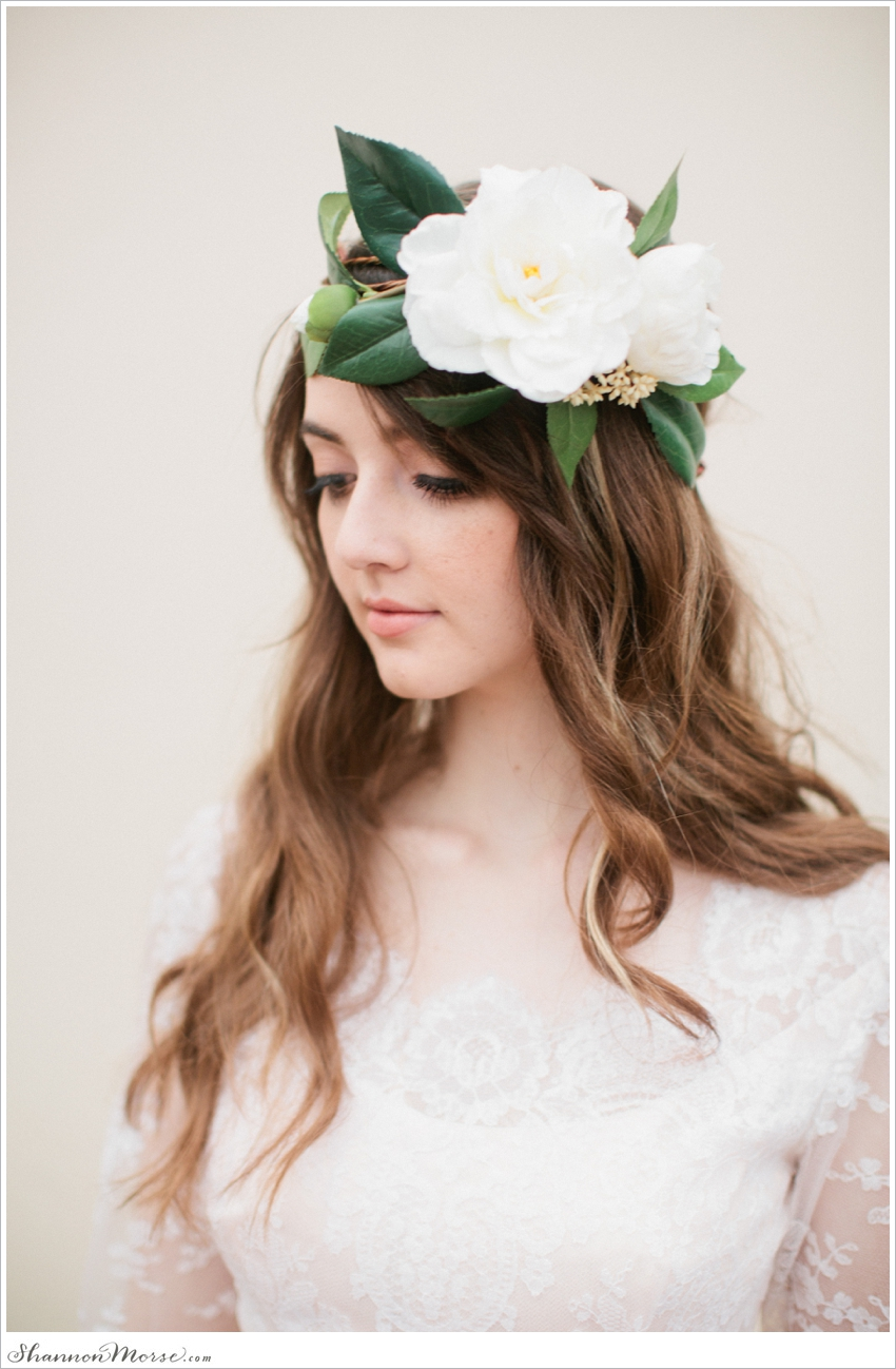The Grace Flower Crown Created With White English Roses Love