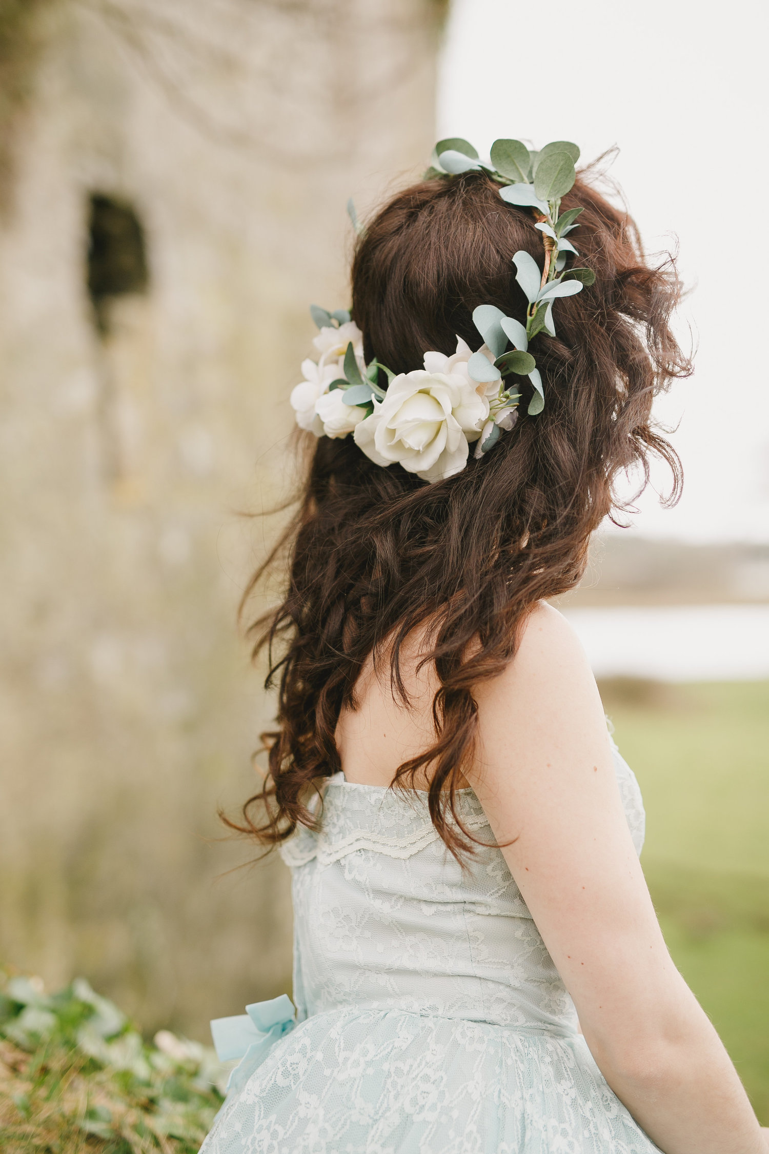 Sienna Flower Crown Created With Ivory And Cream Roses And