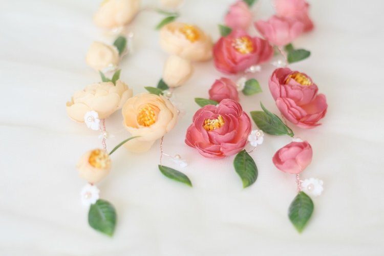 Dusty pink flower garland love sparkle pretty dusty pink flower garland mightylinksfo