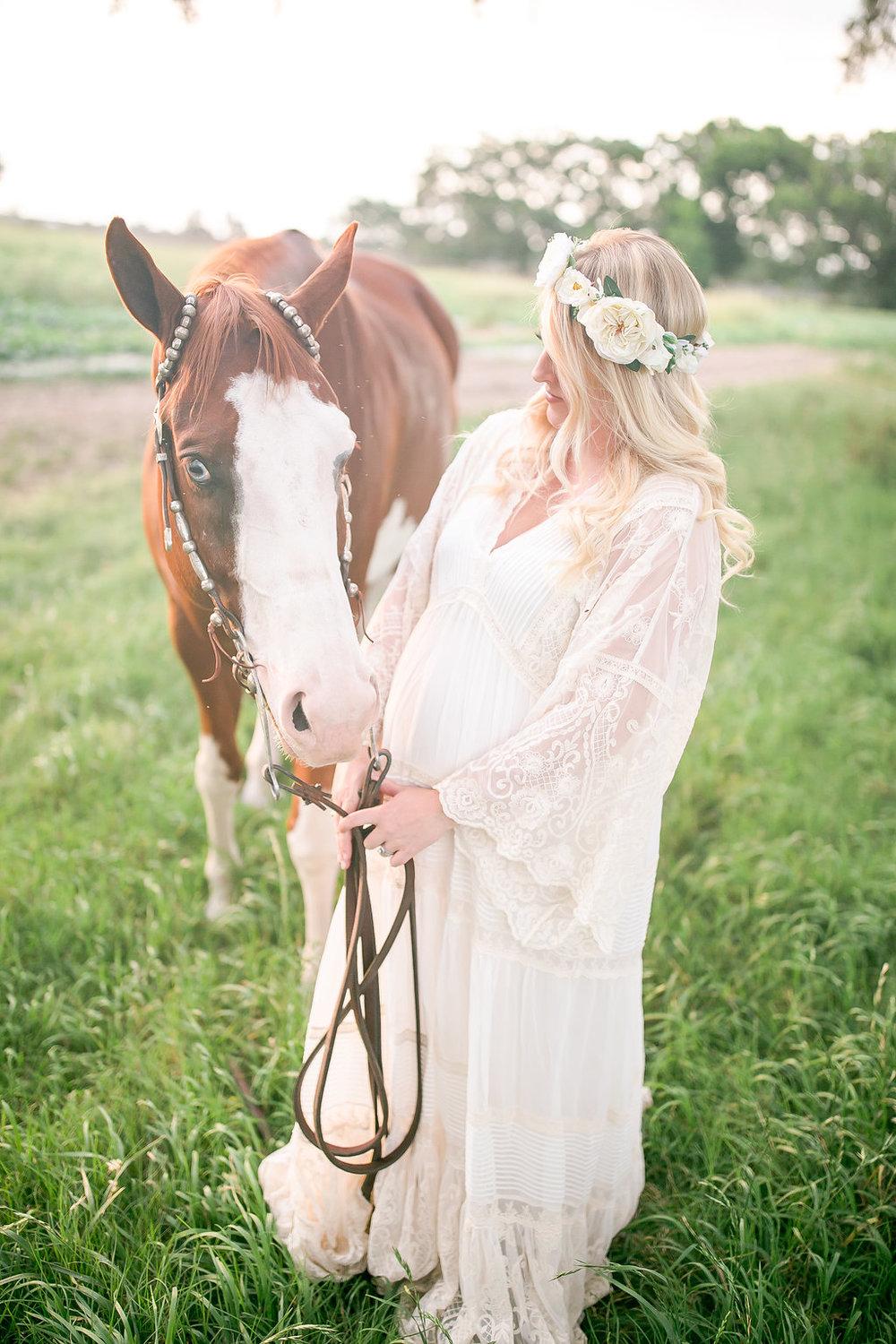Gorgeous Maternity Style Photography with Horse and Flower Crown ... e846ae52bb2