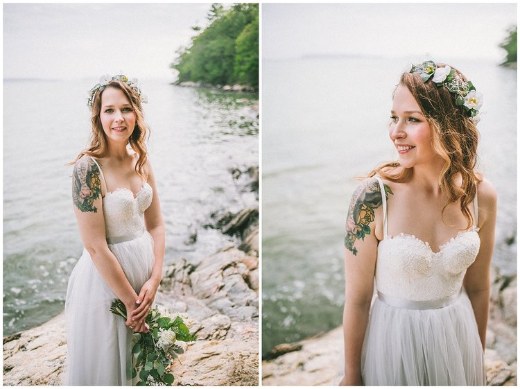 flower crown tattoo bride