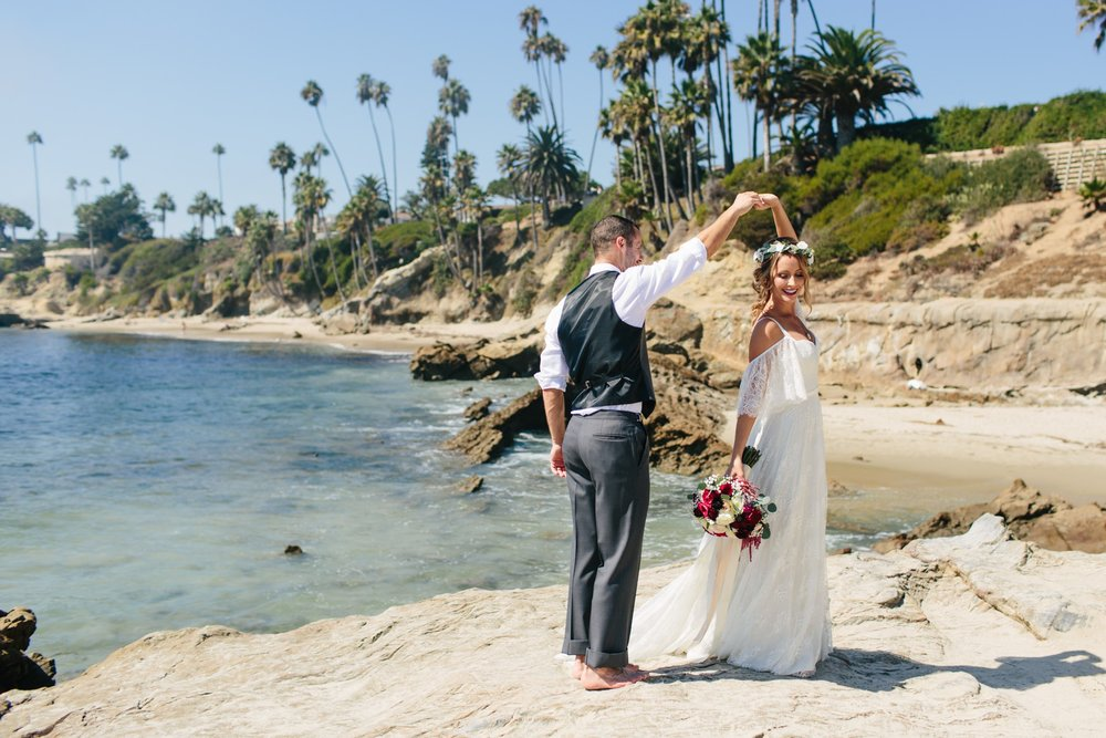 laguna beach coastal wedding