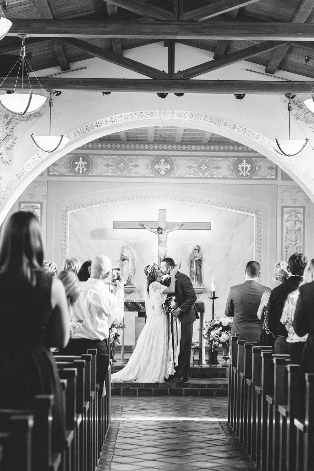 laguna beach church wedding with a sweet romantic and bohemian vibe