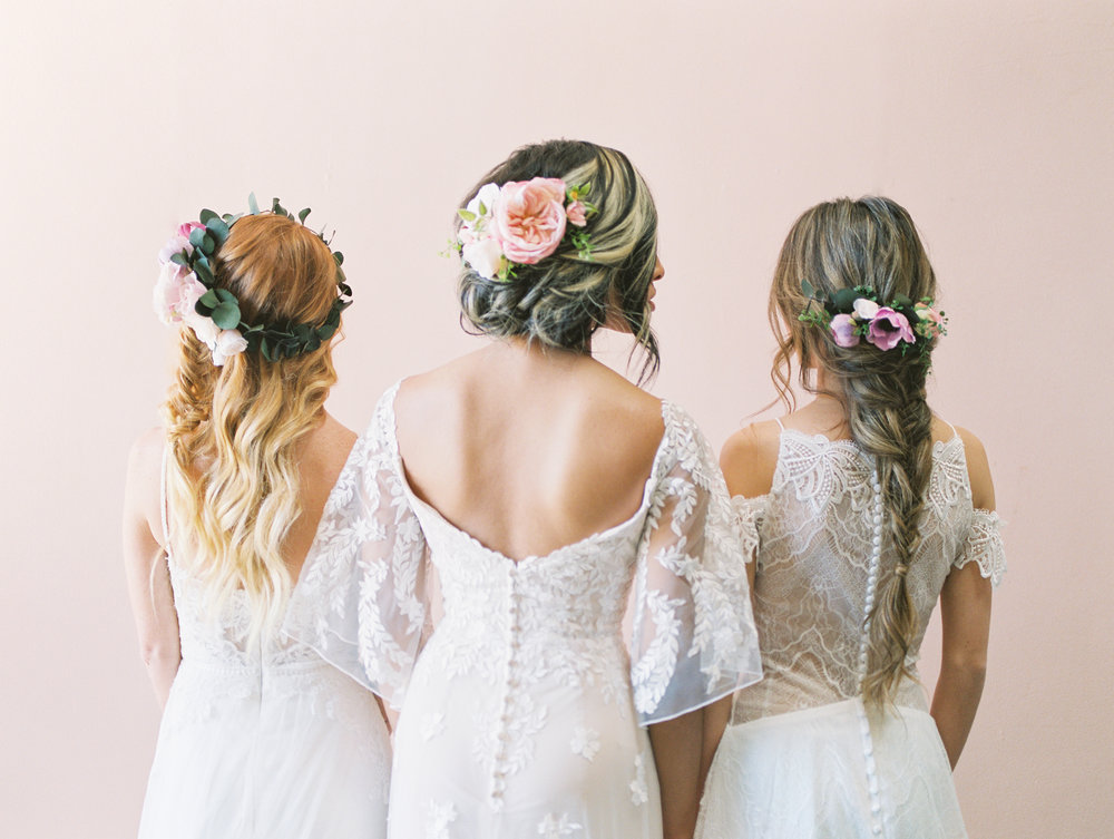 bridal flower crowns by love sparkle pretty bridal hairstyle inspiration