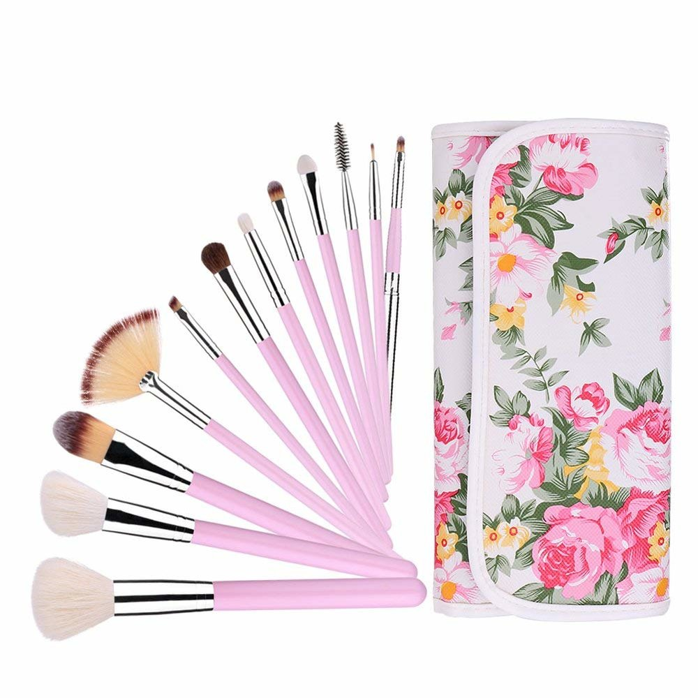 bridesmaid gift makeup brushes floral