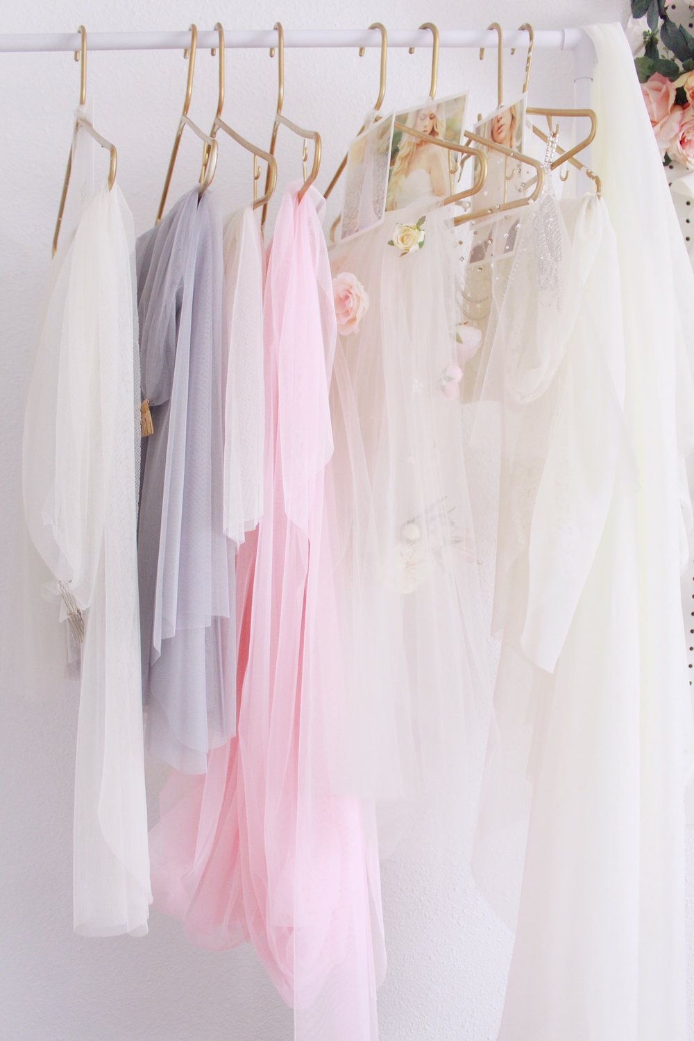 pretty studio space of bridal designer Love Sparkle Pretty. Romantic veils.
