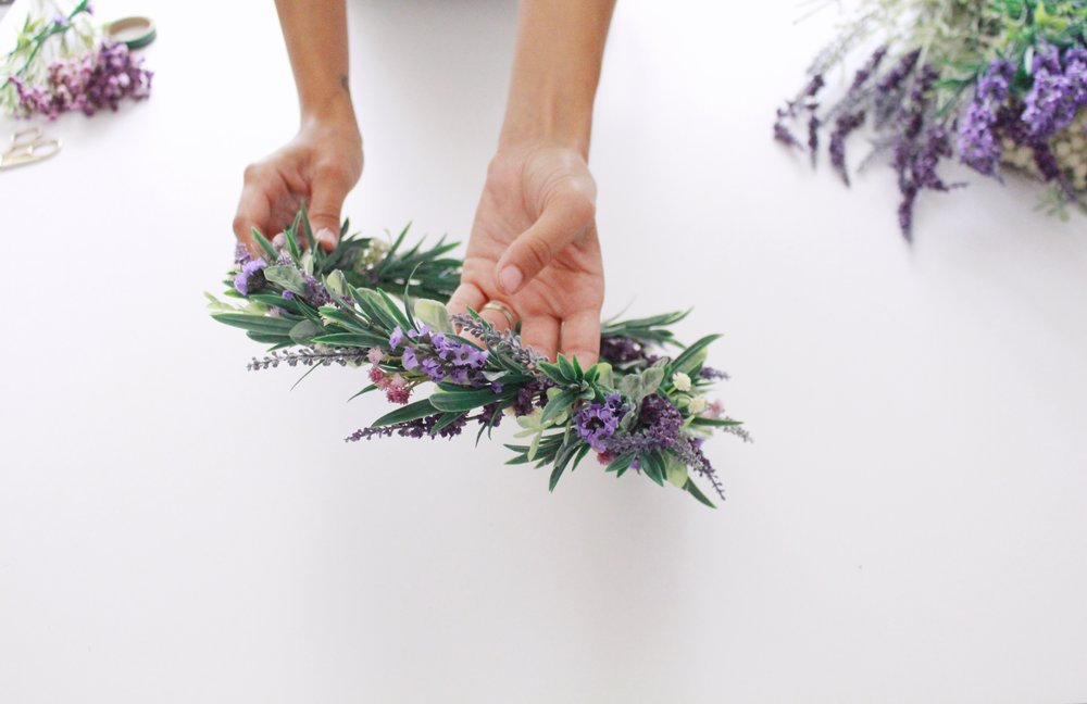 lavender flower crown by Love Sparkle Pretty