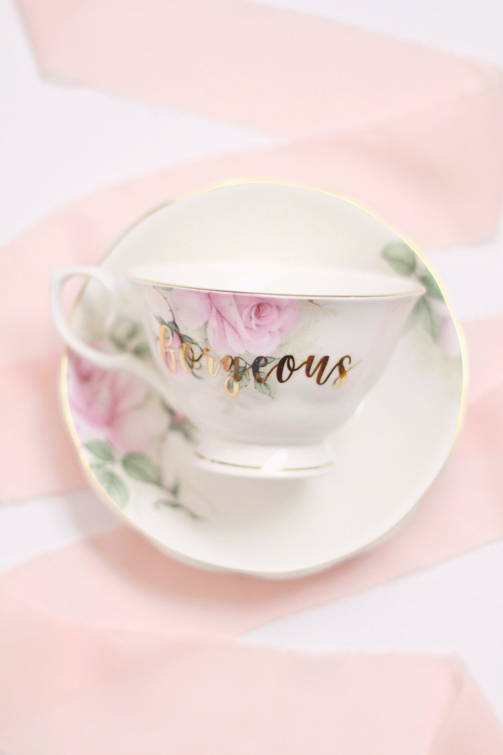 Custom tea cup by  Velvet Crown Design