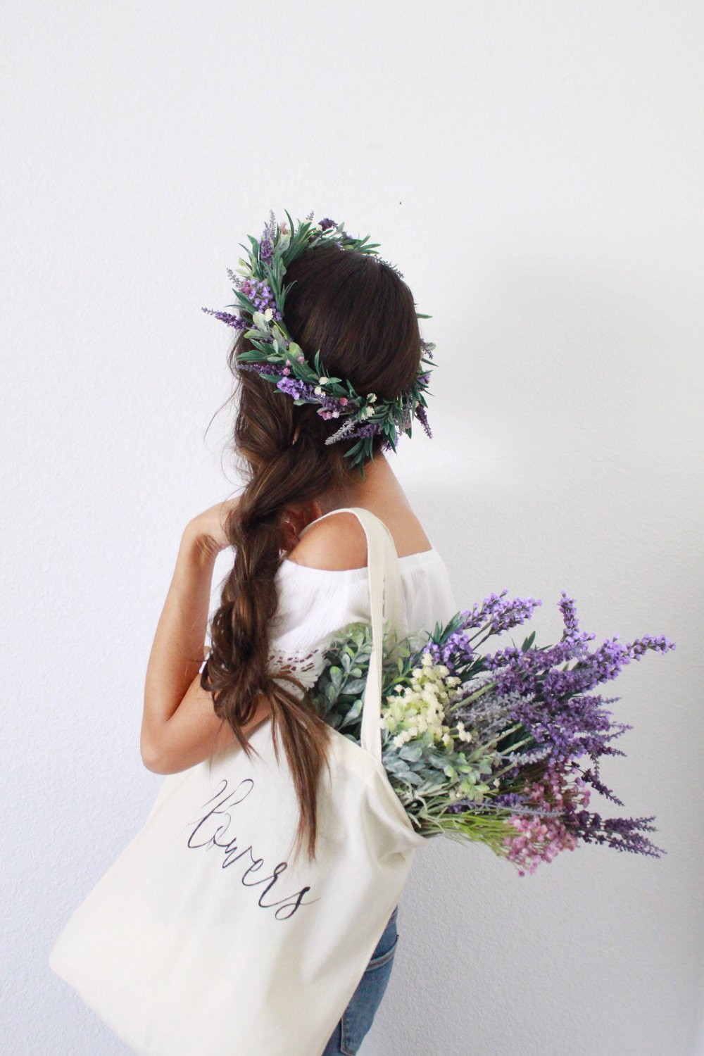 Flower crown workshop in southern california at morning lavender by Love Sparkle Pretty